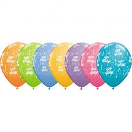 Multi Coloured Birthday 6Pk