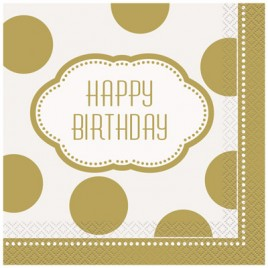 Golden Birthday Napkins