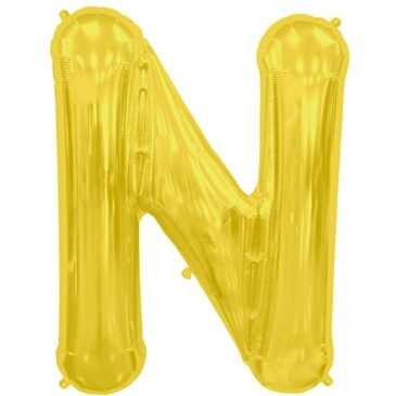 N Gold Letter Foil