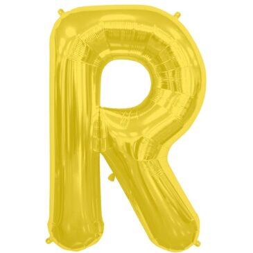 R Gold Letter  Foil