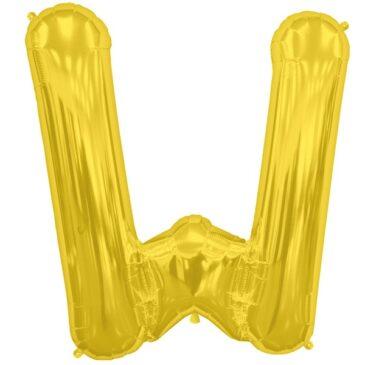 W Gold Letter Foil