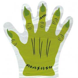 10 Pack Zombie Hand Cello Bags
