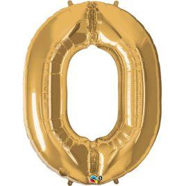 Gold Number 0 Foil