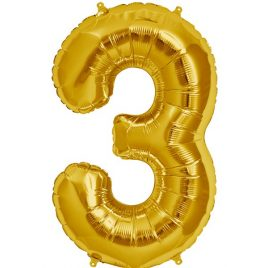 Gold Number 3 Foil