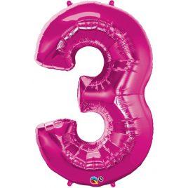 Pink Number 3 Foil