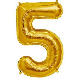 Gold Number 5 Foil