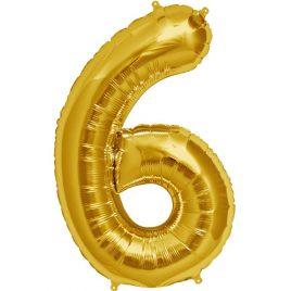 Gold Number 6 Foil