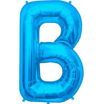 B Blue Letter Foil