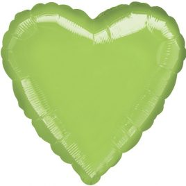 Lime Green Heart Foil