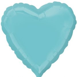 Light Blue Heart Foil