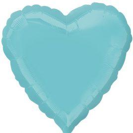 Light Blue Heart Foil