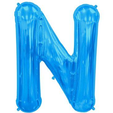N Blue Letter Foil