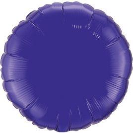 Purple Round Foil