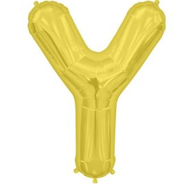 Y Gold Letter Foil