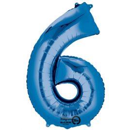 Blue Number 6 Foil