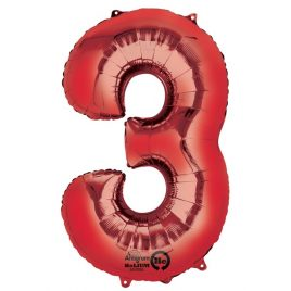 Red Number 3 Foil