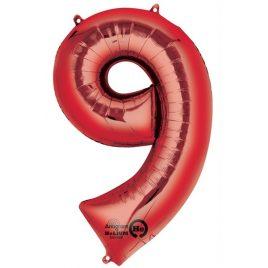 Red Number 9 Foil