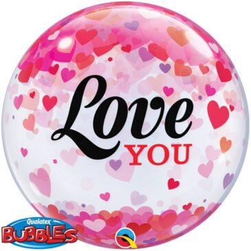 Valentines Confetti Bubble