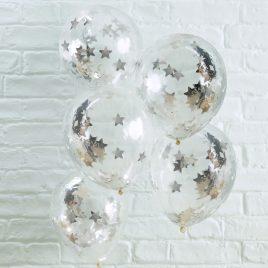Confetti Latex – Silver Stars