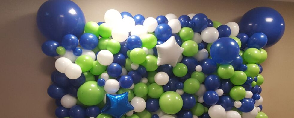 Blue Green and White Organic Wall 1170×470