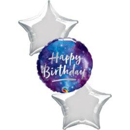 Galaxy Star Happy Birthday Foil Bouquet