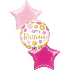Happy Birthday Polka Dots Foil Bouquet