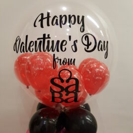 Personalised, with Mini Balloons and Cluster Stand