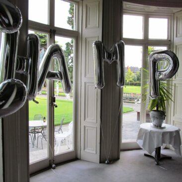 Foil Letter Balloons - Golfing Event