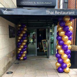 Balloon Columns - Siam Thai Restaurant