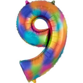 Rainbow Balloon Number 9