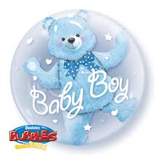Baby Boy Bear Bubble
