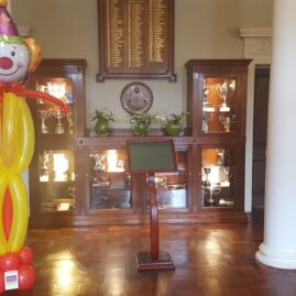 Large clown sculpture