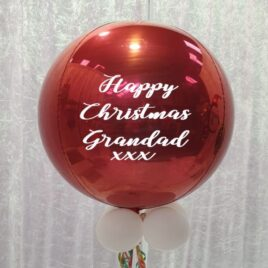 9070 Personalised Red Orbz Balloon