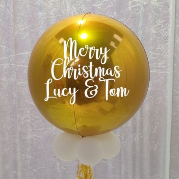 9071 Personalised Gold Orbz Balloon