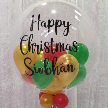 9080 Personalised Balloon filled Bubble Balloon