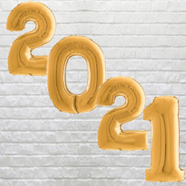 "9710 Large Gold Digit ""2021"" Balloons"