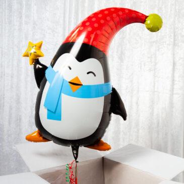 9458 Adorable Penguin Balloon in a Box