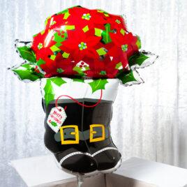 9461 Christmas Poinsettia Balloon in a Box