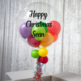9462 Personalised Christmas Bubble Balloon in a Box