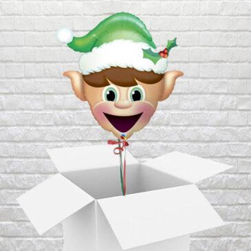 9464 Happy Elf Balloon in a Box