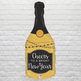 9604 Glittery Champagne Bottle