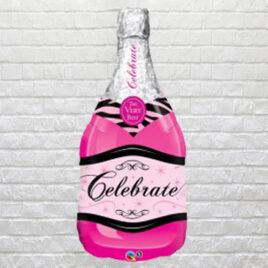 9606 Pink Champagne Bottle