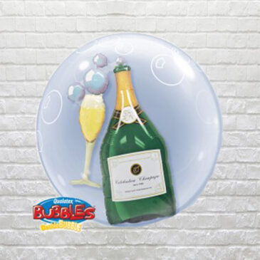 9800 Glass and Champagne Bottle Bubble Balloon