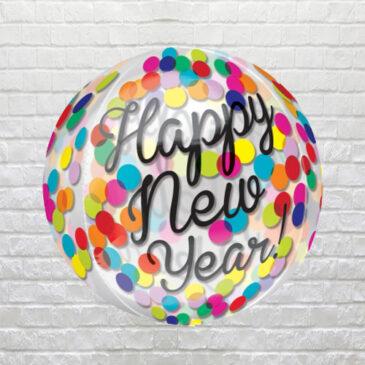 9851 Confetti Happy New Year Orbz