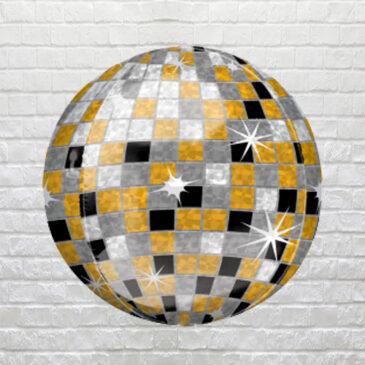 """9852 Metallic """"Disco Ball"""" Balloon"""