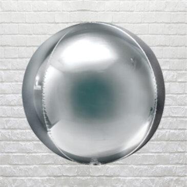 9863 Silver Globe Balloon