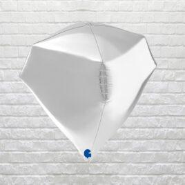 9866 Silver Gem Balloon
