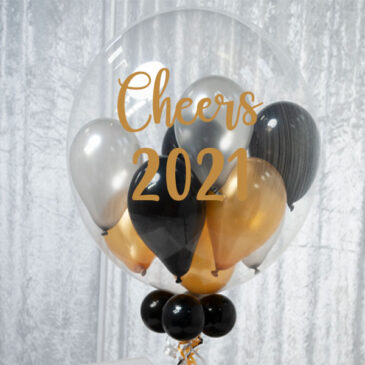 "9951 ""Cheers 2021"" Personalised Bubble Balloon"