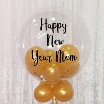 9952  Personalised Balloon filled Bubble Balloon
