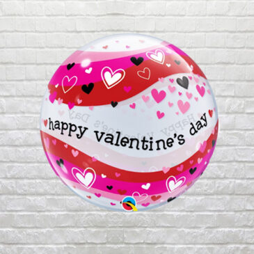 6202 Valentine Hearts Bubble